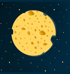 cheese moon vector image