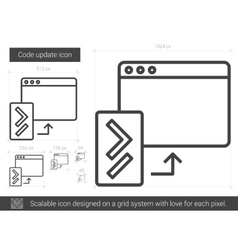 Code update line icon vector