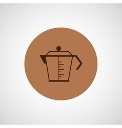 Coffee design coffeepot icon vector image