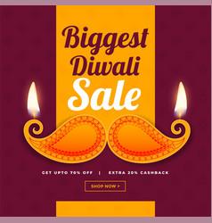 creative design of diwali sale banner vector image