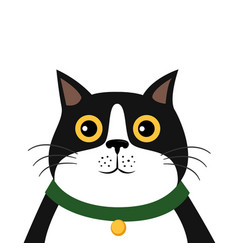 cute cartoon cat icon vector image