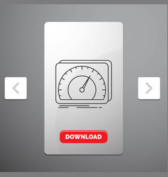 Dashboard device speed test internet line icon in vector