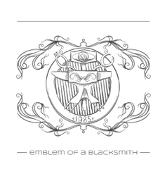 Emblem Of a Blacksmith vector image