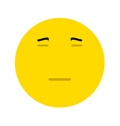 Emoticon expressing boredom or disapproval vector