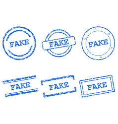 Fake stamps vector