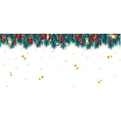 Festive new year background christmas tree vector