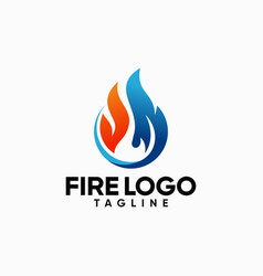 fire flame logo designs image vector image