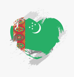 flag of turkmenistan vector image
