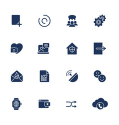 flat design icons set modern style vector image