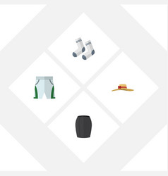 flat icon clothes set of elegant headgear foot vector image