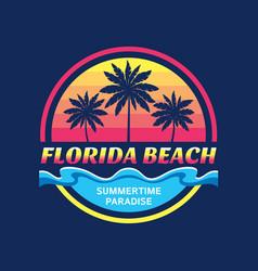 florida beach - concept vector image