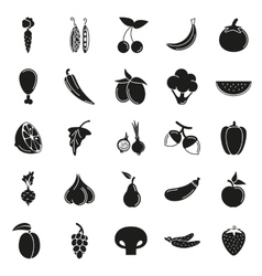 Food Icon set Vegetables and meat vector