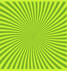 Green psychedelic background with rays lines or vector