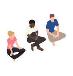 Group therapy isometric icon vector