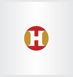 H logo symbol circle icon sign element letter vector