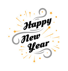 happy new year 2020 on white background vector image