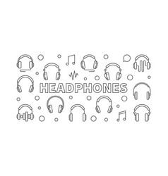 Headphones horizontal or vector