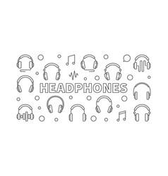 headphones horizontal vector image