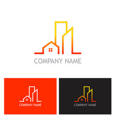 home building logo vector image