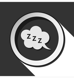 icon - ZZZ speech bubble with shadow vector image