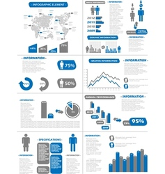INFOGRAPHIC DEMOGRAPHICS NEW STYLE BLUE vector