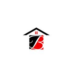 initial letter b house real estate logo design vector image
