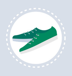 male green casual shoes shopping icon fashion vector image
