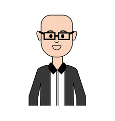 Man with glasses and elegant cloth vector