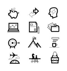 management or analytics e-commerce web design vector image