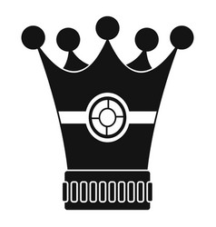 medieval crown icon simple style vector image