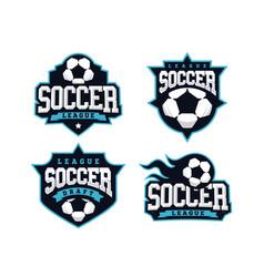 modern professional soccer logo set for sport team vector image
