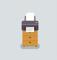 office printer in flat stile vector image