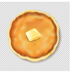 pancake isolated with butter transparent vector image