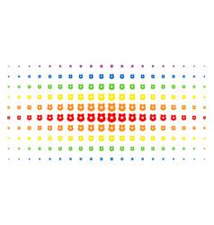 police shield spectrum halftone effect vector image