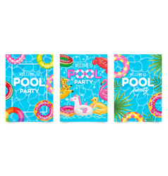 pool party poster welcome to party flyer vector image