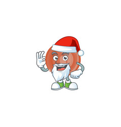 santa bronze coin cartoon character mascot style vector image