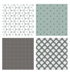 set of abstract geometric hipster fashion design vector image