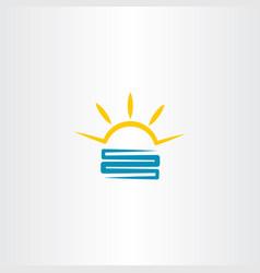 solar energy logo symbol icon vector image