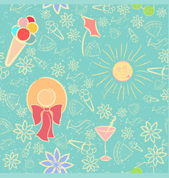 summer seamless pattern with texture vector image