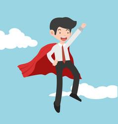 super businessman concept cartoon vector image