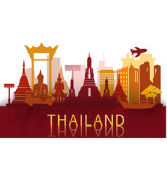 thailand travel famous landmarks and tourist vector image