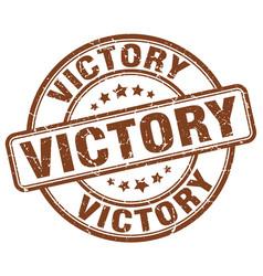 Victory brown grunge stamp vector