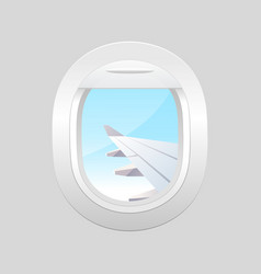 view from airplane window plane vector image