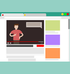 Viewing video blog in browser vector