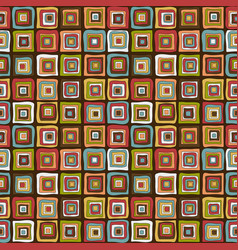 vintage colorful squares background vector image