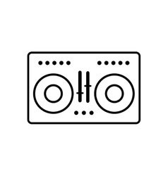 Vinyl equalizer music sound icon graphic vector
