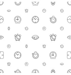 Watch icons pattern seamless white background vector