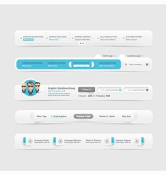 Web site design menu vector image vector image