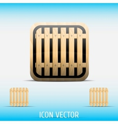Icon open vector image vector image