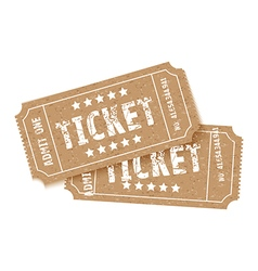 pair of brown tickets vector image